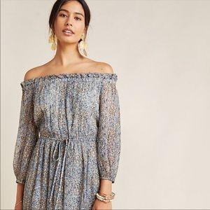 Anthropologie Kira Off The Shoulder Midi Dress